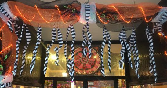 Halloween 2016 Arbor decorations for the Witches' Carnival